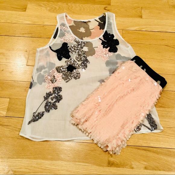 Candie's Dresses & Skirts - Pink & Black Shimmer Set